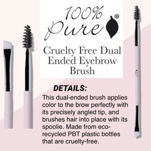 100% PURE: Dual Ended Eyebrow Brush